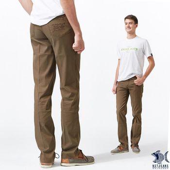 【NST Jeans】溫柔冷咖啡色 MUJI風 咖啡色休閒長褲(中腰) 393(66457)