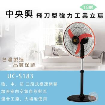 【中央興】18吋高級鐵盤風扇UC-S183