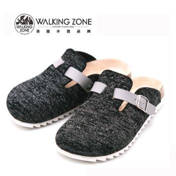 WALKING ZONE 包頭休閑鞋懶人拖鞋 女鞋 黑(另有藍、灰)