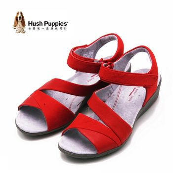 Hush Puppies NIX IRVINE系列 厚底簡約涼鞋 女鞋-紅(另有黑)