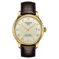 TISSOT 天梭 Le Locle 80小時動力儲存機械腕錶 白x咖啡 40mm T0064073626300