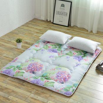 【契斯特】舒適純棉京都日式床墊-特大7尺-繡球花開