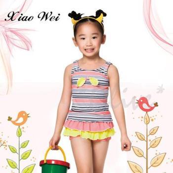 蘋果牌  時尚女童連身裙泳裝  NO.106602