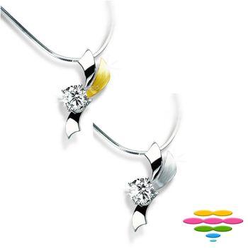 彩糖鑽工坊 GIA 0.30克拉 F/VS2 鑽石項鍊