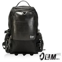 OEM  新製包工藝革命 綠色潮流 大容量後背包  -黑