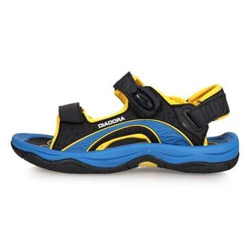 DIADORA 男女大童運動涼鞋-拖鞋 戲水 海邊 海灘 溯溪 黑黃藍