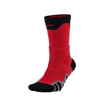 NIKE PWR CREW 男長筒襪-長襪 襪子 籃球 紅黑白