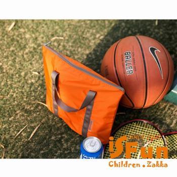 【iSFun】旅行專用*輕巧防水尼龍手提袋/二色可選