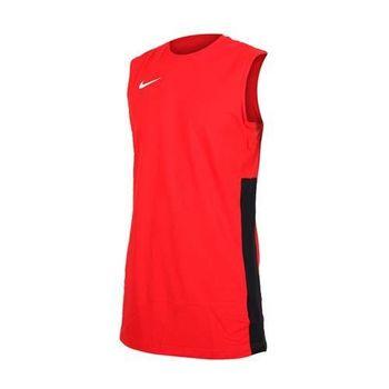 NIKE 男針織背心-路跑 慢跑 籃球背心 運動背心 紅白