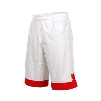 NIKE 男針織短褲-路跑 慢跑 運動 籃球褲 白紅