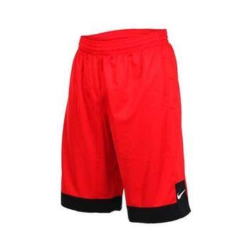 NIKE 男針織短褲-路跑 慢跑 運動 籃球褲 紅白