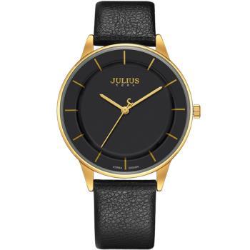 JULIUS聚利時 城市森林內凹錶盤設計真皮腕錶-五色/39mm