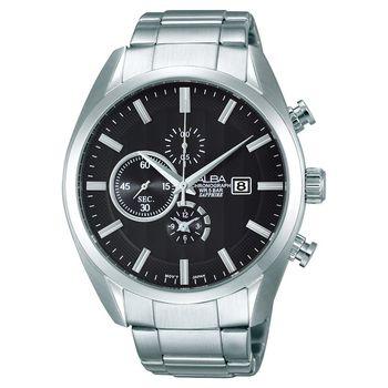 ALBA 領先菁英三眼計時腕錶 黑 44mm YM92-X262D AF8T85X1