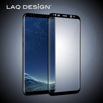 LAQ DESiGN For Samsung Galaxy S8 Plus 鋼化玻璃保護貼 黑框