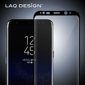 LAQ DESiGN For Samsung Galaxy S8 鋼化玻璃保護貼 黑框