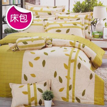R.Q.POLO 日居的禮物系列-沁田 純棉薄床包 含枕套(雙人標準5尺)