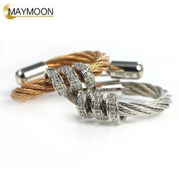 美玥珠寶 經典扭繩-纏繞鑽石戒指
