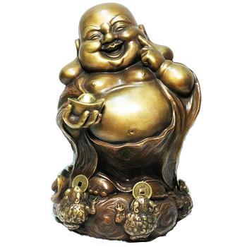 [開運陶源] 羅廣維限量原作 五方進財.笑彌勒 咬錢蟾蜍 財神 彌勒佛銅雕