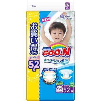 GOO.N 日本大王尿布 境內特規增量版紙尿褲XL(52x3包/箱) 全新升級