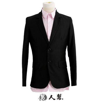 【男人幫】韓版修身顯瘦 迷幻JAPEN細黑條美型窄版西裝外套 獨特韓版紳士雅痞款 C5314