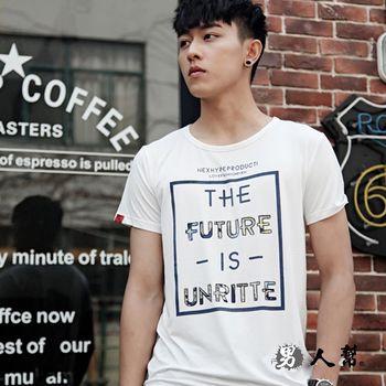 【男人幫】韓國空運英文字母印花短袖T恤(T1518)