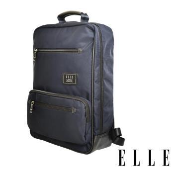 ELLE 城市都會休旅系列 大容量多隔層機能收納13吋筆電休閒手提/後背包 -深藍色