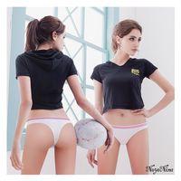 【Naya Nina】運動內褲 無縫彈力低腰丁字褲S-XL(白)
