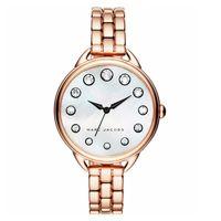 Marc Jacobs Betty 摩登晶鑽女錶 珍珠貝x玫塊金 35mm MJ3515