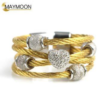美玥珠寶 經典扭繩-閃亮之心鑽石戒指
