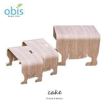 【obis】cake法鬥狗桌椅組(1桌+2椅)兩色可選