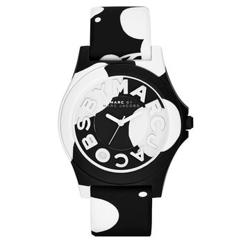 Marc by Marc Jacobs Sloane 乳牛趣味時尚腕錶 黑 40mm MBM4027