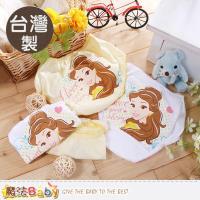 魔法Baby 女童內褲(四件一組) 台灣製迪士尼美女與野獸正版純棉三角內褲~k50437
