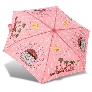 RAINSTORY雨傘-心心象印(粉)抗UV輕細口紅傘