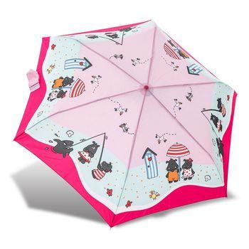 RAINSTORY雨傘-河馬沙灘(粉)抗UV輕細口紅傘