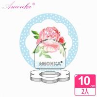 AMONKA 3R神奇無痕掛勾花瓣造型乳液罐(點點玫瑰-藍)2入