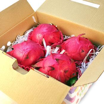 鮮果日誌 紅肉 紅龍果/火龍果 (4入約4~4.5斤禮盒裝)