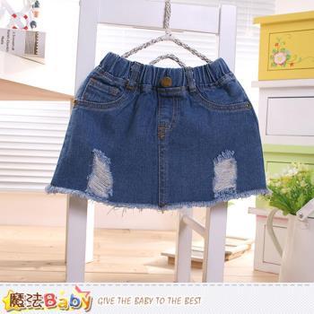 魔法Baby 女童裝 夏季牛仔短裙~k50370