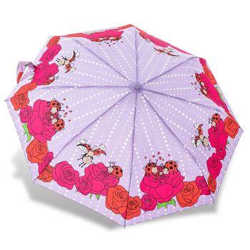 RAINSTORY雨傘-瓢蟲家族(紫)抗UV個人自動傘