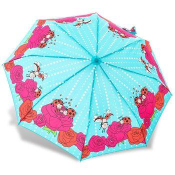 RAINSTORY雨傘-瓢蟲家族(藍綠)抗UV個人自動傘