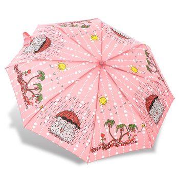 RAINSTORY雨傘-心心象印(粉)抗UV個人自動傘