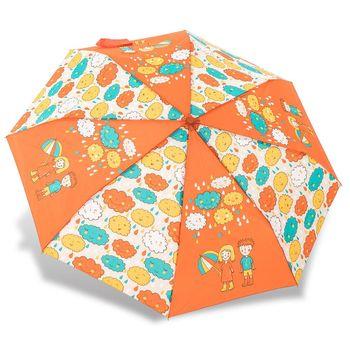 RAINSTORY雨傘-雨天探險家(橘)抗UV個人自動傘