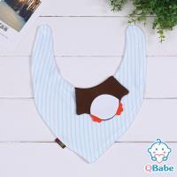 QBabe 純棉可愛動物造型三角圍兜口水巾