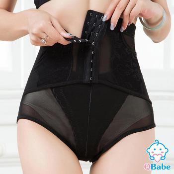 QBabe 產後收腹提臀網紗美體塑身褲(黑色)