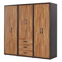 【AT HOME】亞瑟8尺集層柚木組合衣櫃