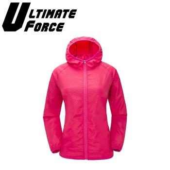 Ultimate Force「動力」連帽防潑水外套(洋紅)