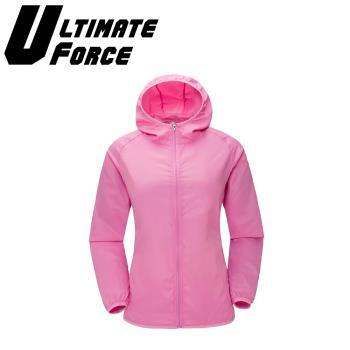 Ultimate Force「動力」連帽防潑水外套(粉色)
