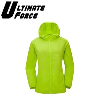 Ultimate Force「動力」連帽防潑水外套(綠色)