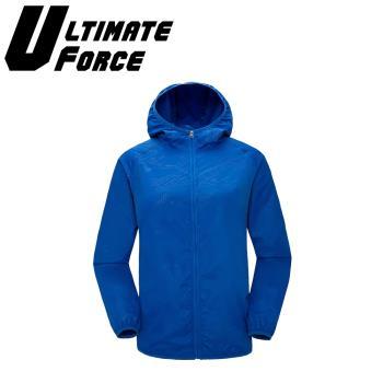 Ultimate Force「動力」連帽防潑水外套(藍色)