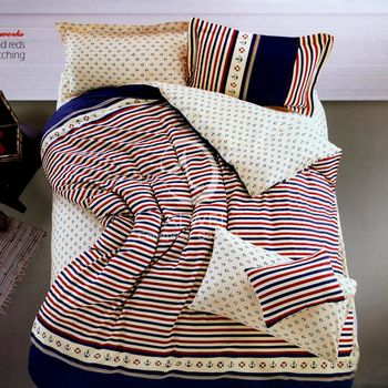 卡莎蘭 卡奇諾 加大純棉四件式涼被床包組