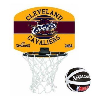 SPALDING 克里夫蘭騎士隊小籃板-CLEVELAND CAVALIERS 籃球 咖啡黃